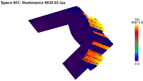 Resultados simulación lumínica planta tipo