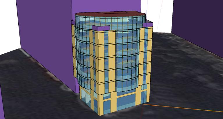 Simulación iluminación natural de un edificio de oficinas